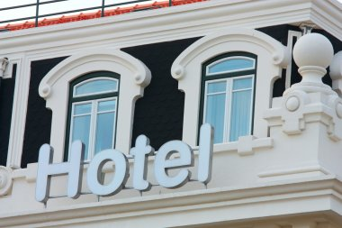 Hotel Sign and Windows