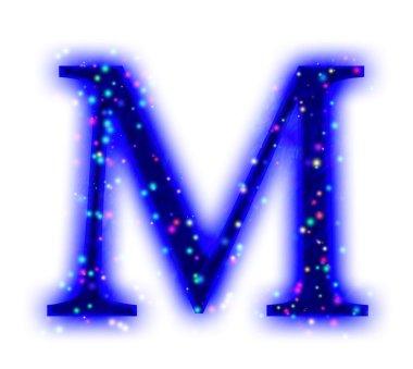 Christmas font - alphabet letter L