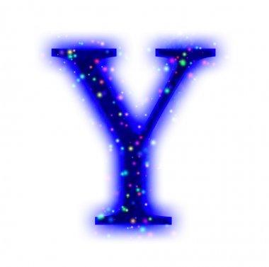 Christmas font - alphabet letter Y