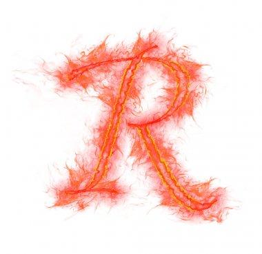 Fire alphabet - letter R