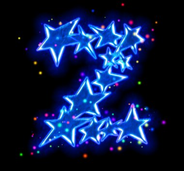 Christmas star alphabet - letter Z