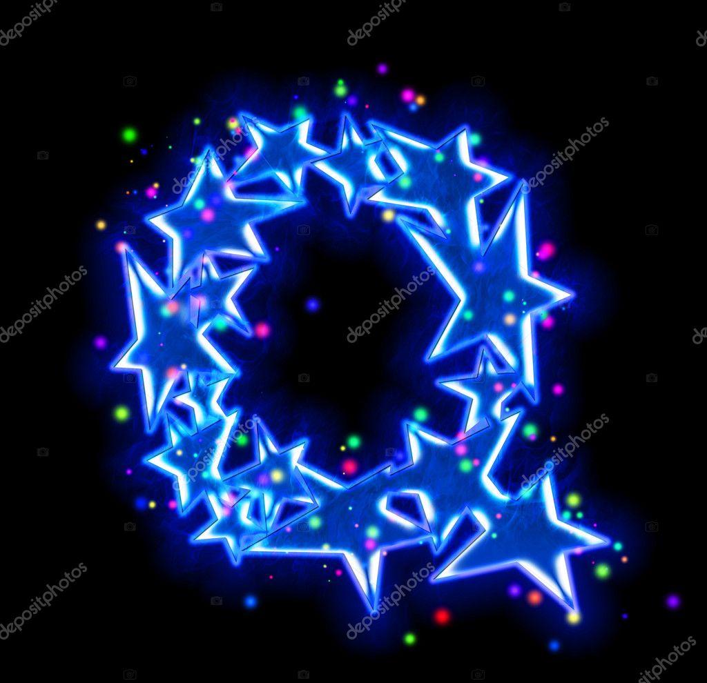 Christmas star alphabet - letter Q  Photo by silverkblack