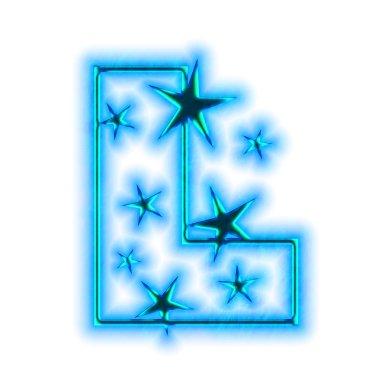 Christmas star font - letter L