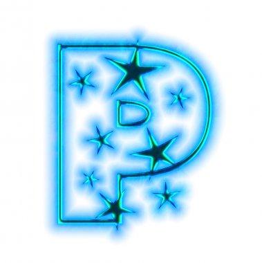 Christmas star font - letter P