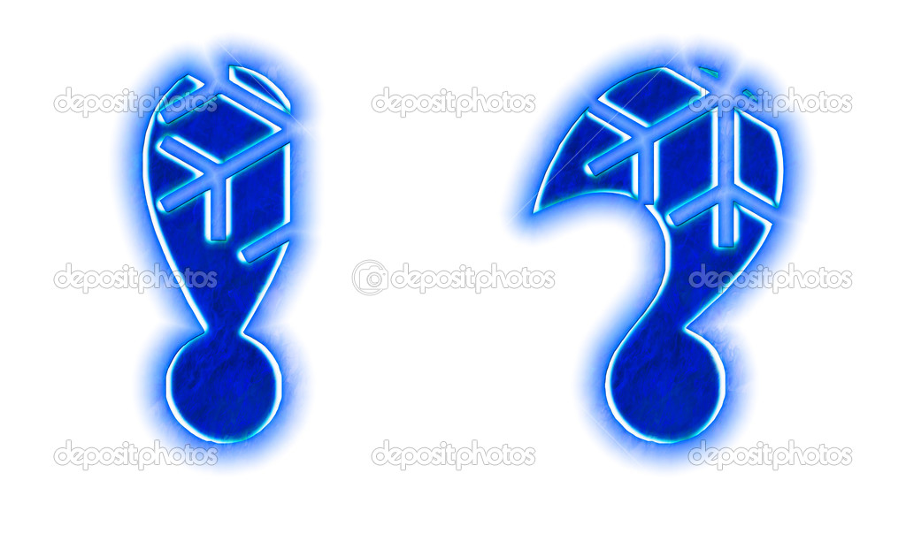 Snowflake Font Exclamation Question Stock Photo Silverkblack