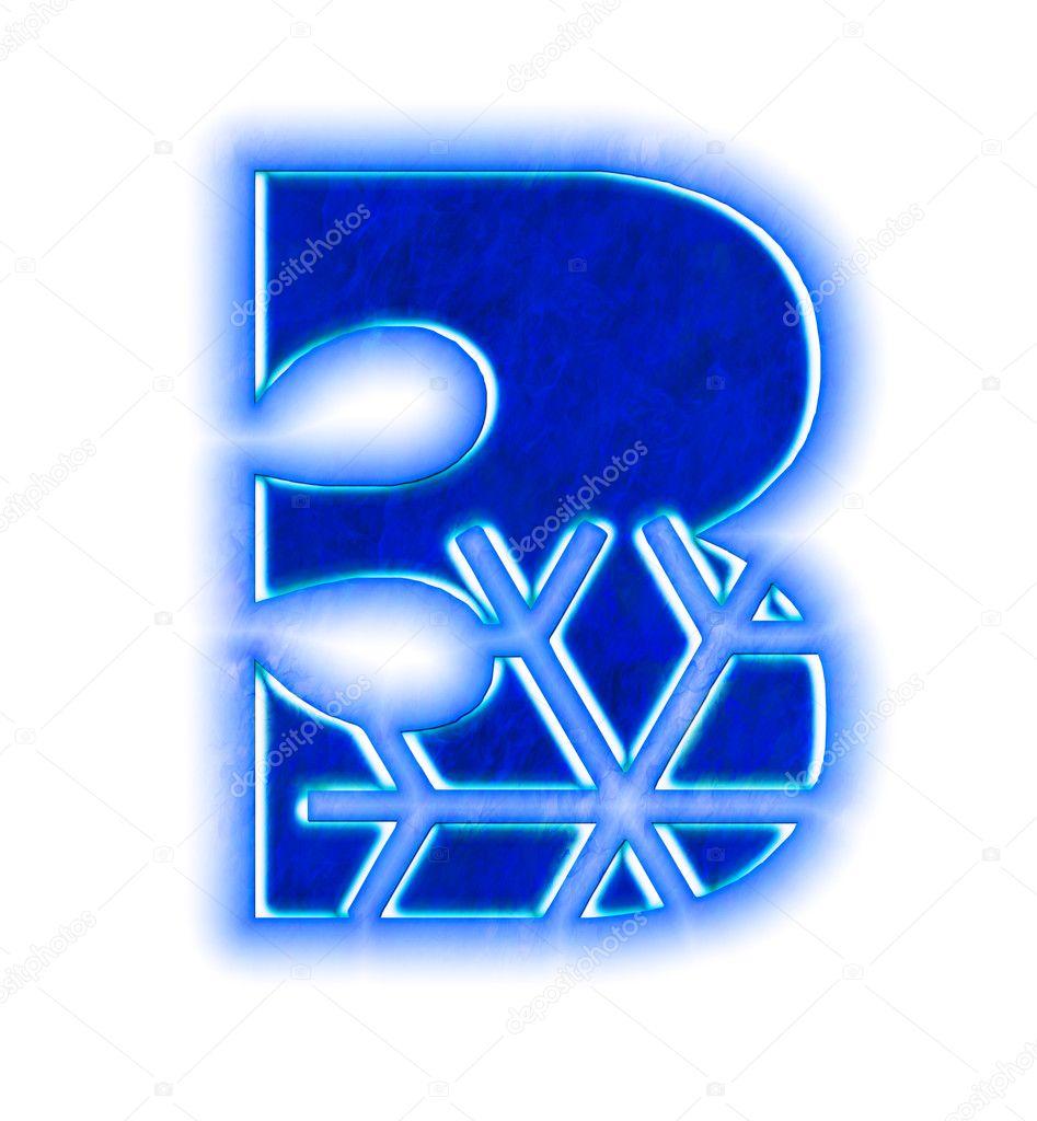 Winter Snowflake Font Number Three Stock Photo Silverkblack