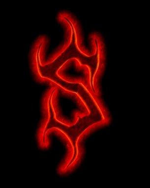 Devil fire font - letter S