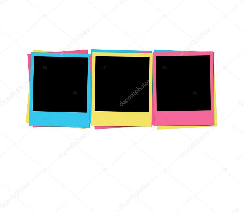 leere Fotos Geburtstag Farben — Stockfoto © Digifuture #1148537