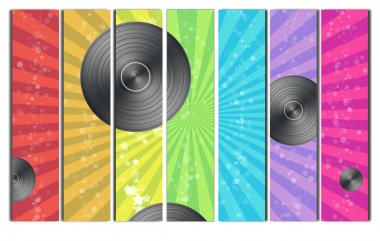 Rainbow Vinyl Record Background