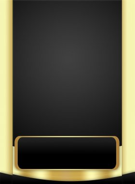 Background in Black and Golden