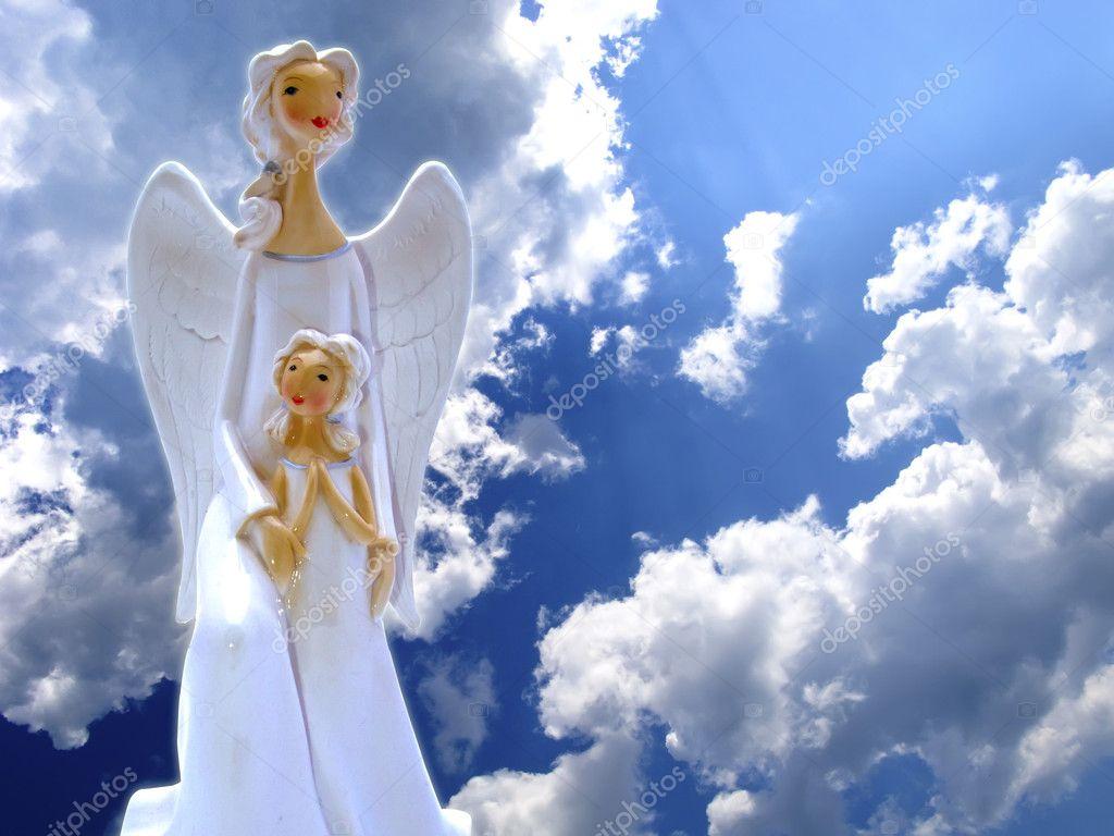 Fondo Angeles ángeles En El Cielo Foto De Stock Digifuture