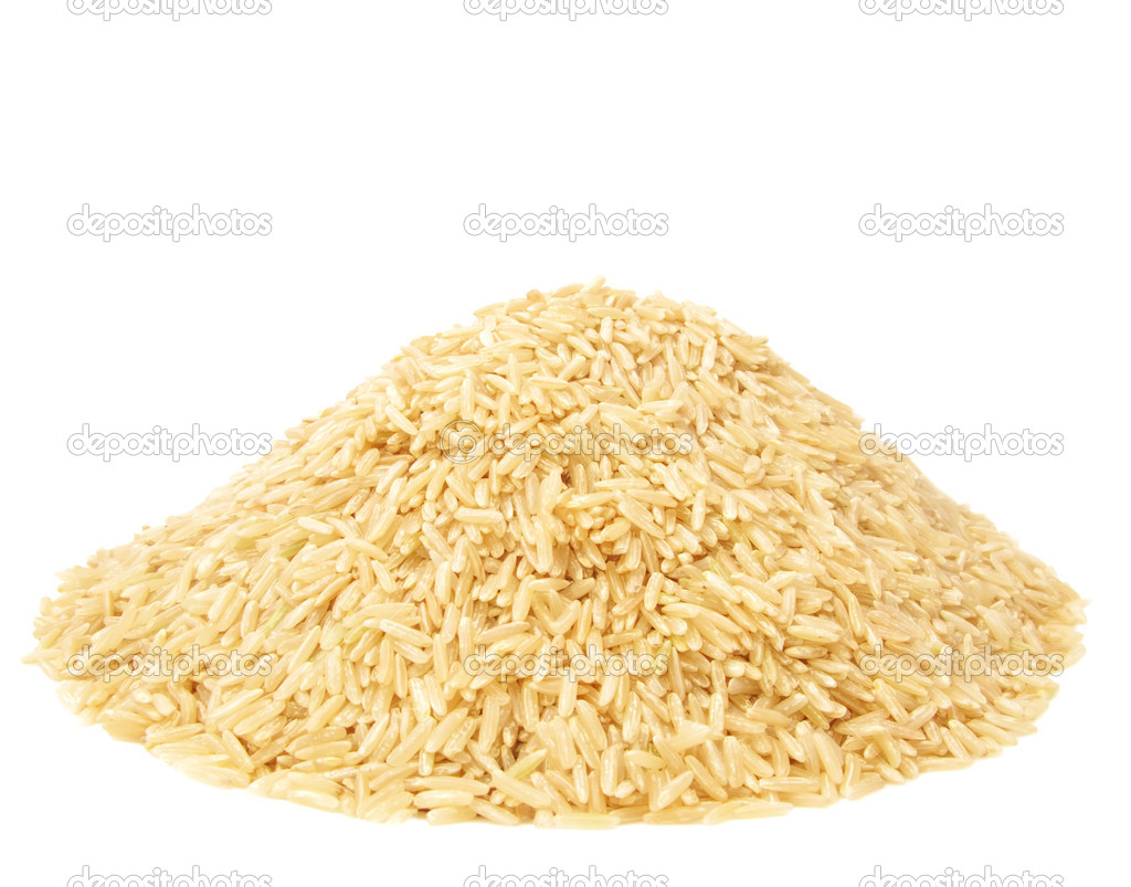 Pile of Brown Rice