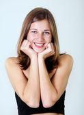 Mladá šťastná usmívající se žena