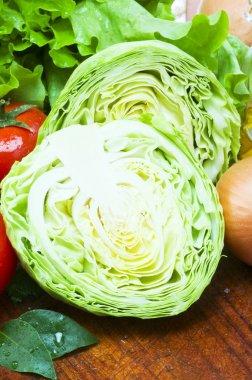 Cabbage still life