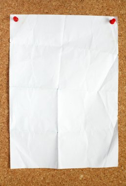 Old blank white paper.