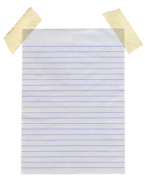 Lined paper isolated.
