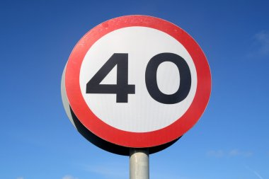 40 miles an hour speed limit sign