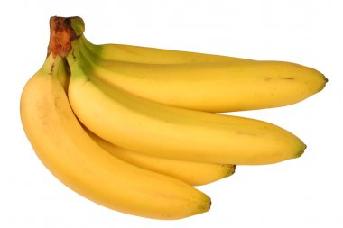 Bunch of bananas isolated.
