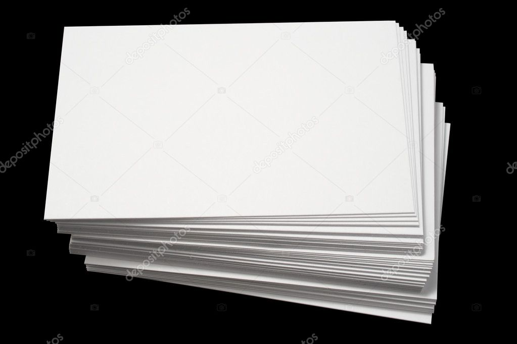 A stack of blank white business cards. — Stock Photo © SRphotos ...