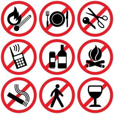 Prohibitory signs