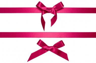 Purple horizontal ribbons with bow