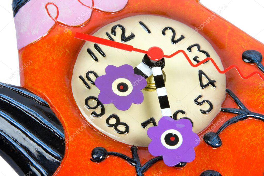 Teapot Sahpe Ceramic Wall Clock Stock Photo Rihardzz 2585363