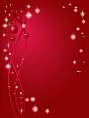 Claret red background with starlets
