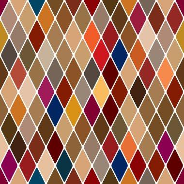 Harlequin bright seamless pattern