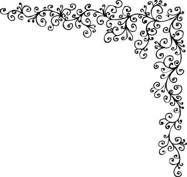 Baroque frozen pattern vignette