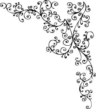 Baroque pattern vignette