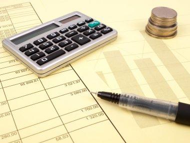 The balance sheet and calculator