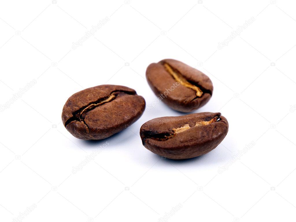 Three coffee beans
