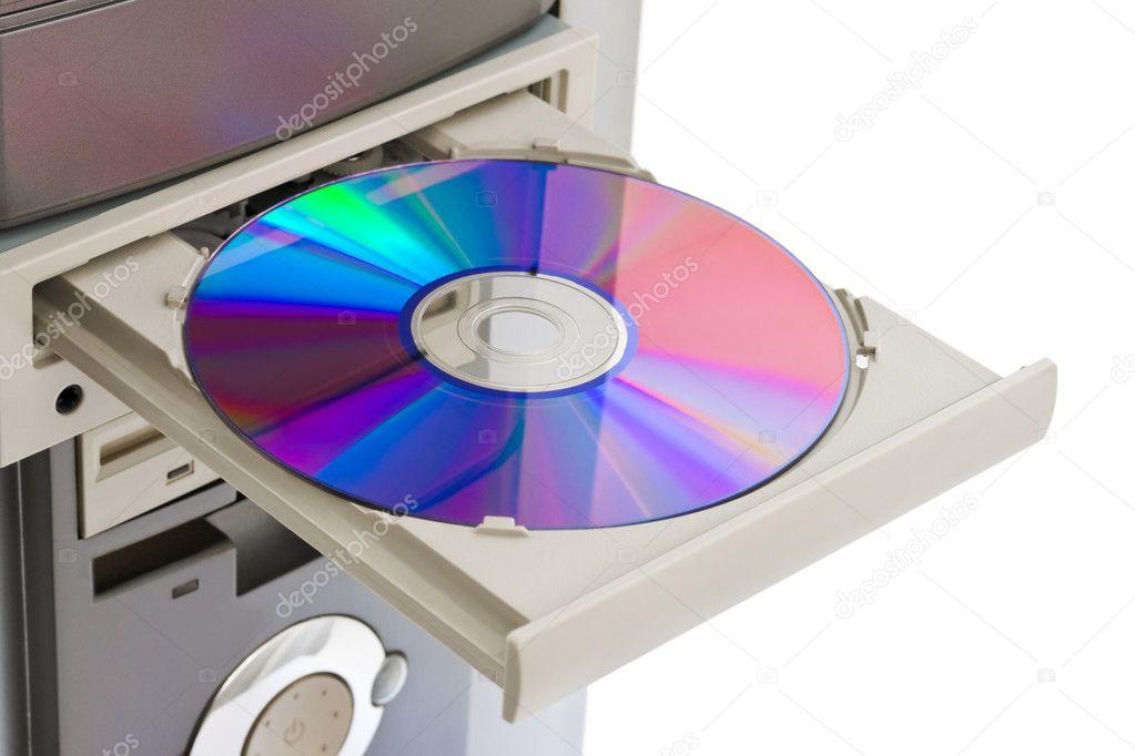 Computadora CD-ROM — Foto de Stock