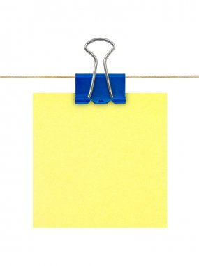Yellow post-it note paper