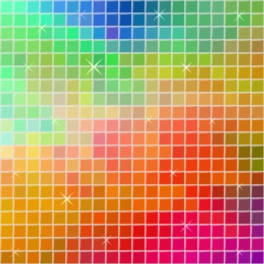 Abstract multicolor square tile mosaic festive background. stock vector