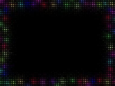 Multicolor mosaic frame
