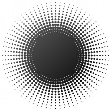 Radial halftone element