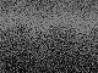 Black and white mosaic.