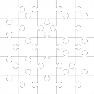 Puzzle vector template.
