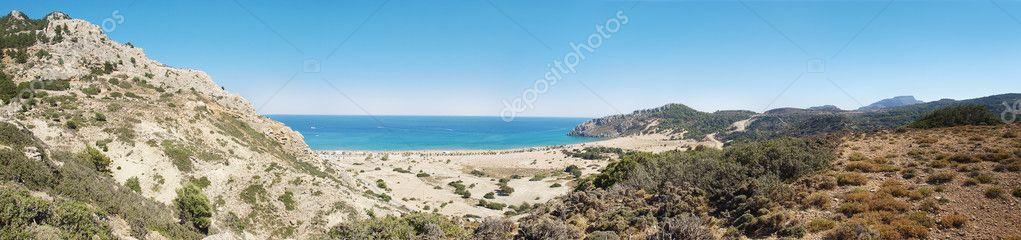 Tsampika beach panorama