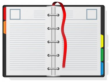 Blank engagement diary