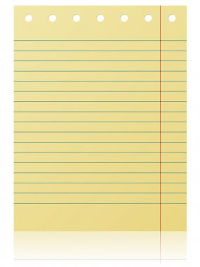 Notepad lined page