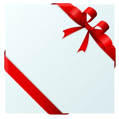 Red bow and ribbon wrapping paper