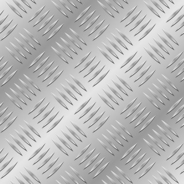 Seamless diamond metal plate