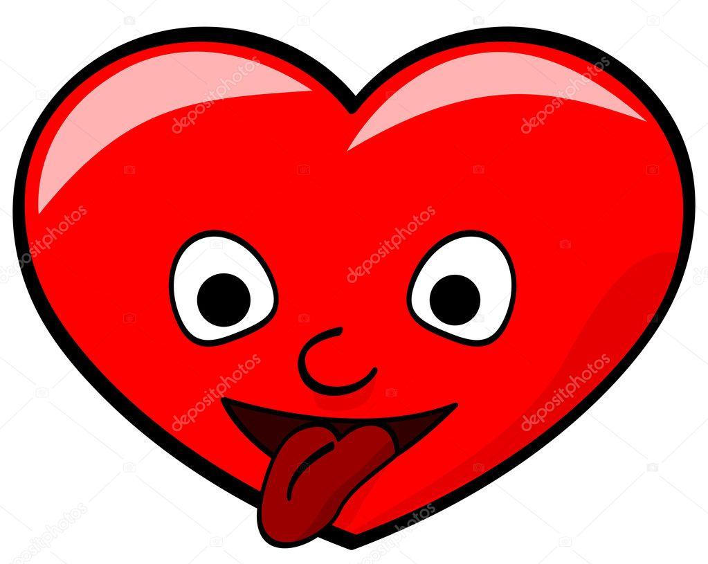 Cuore rosso cartone animato — vettoriali stock