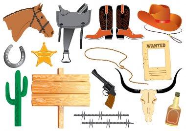 Cowboy elemennts. Texas life