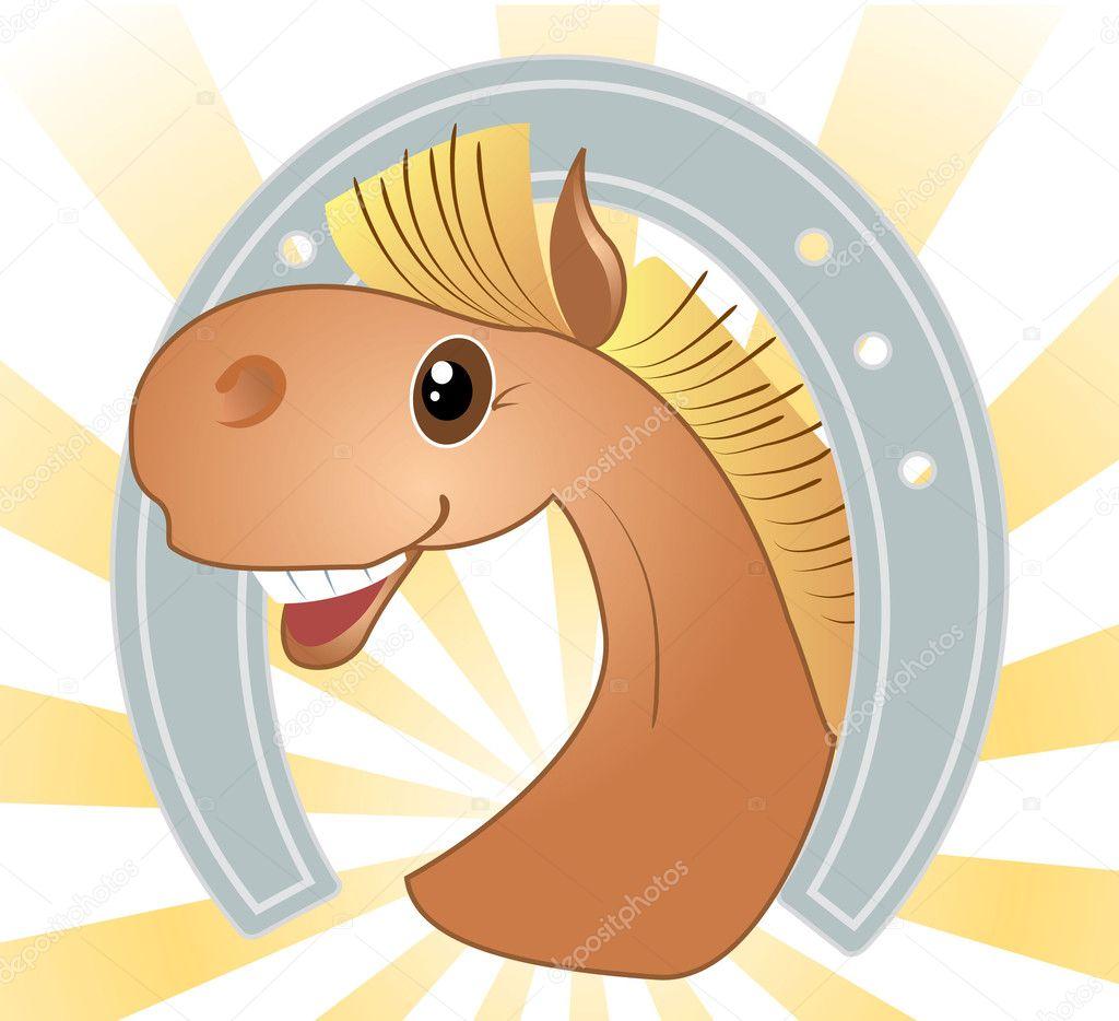 head of horse. Symbol