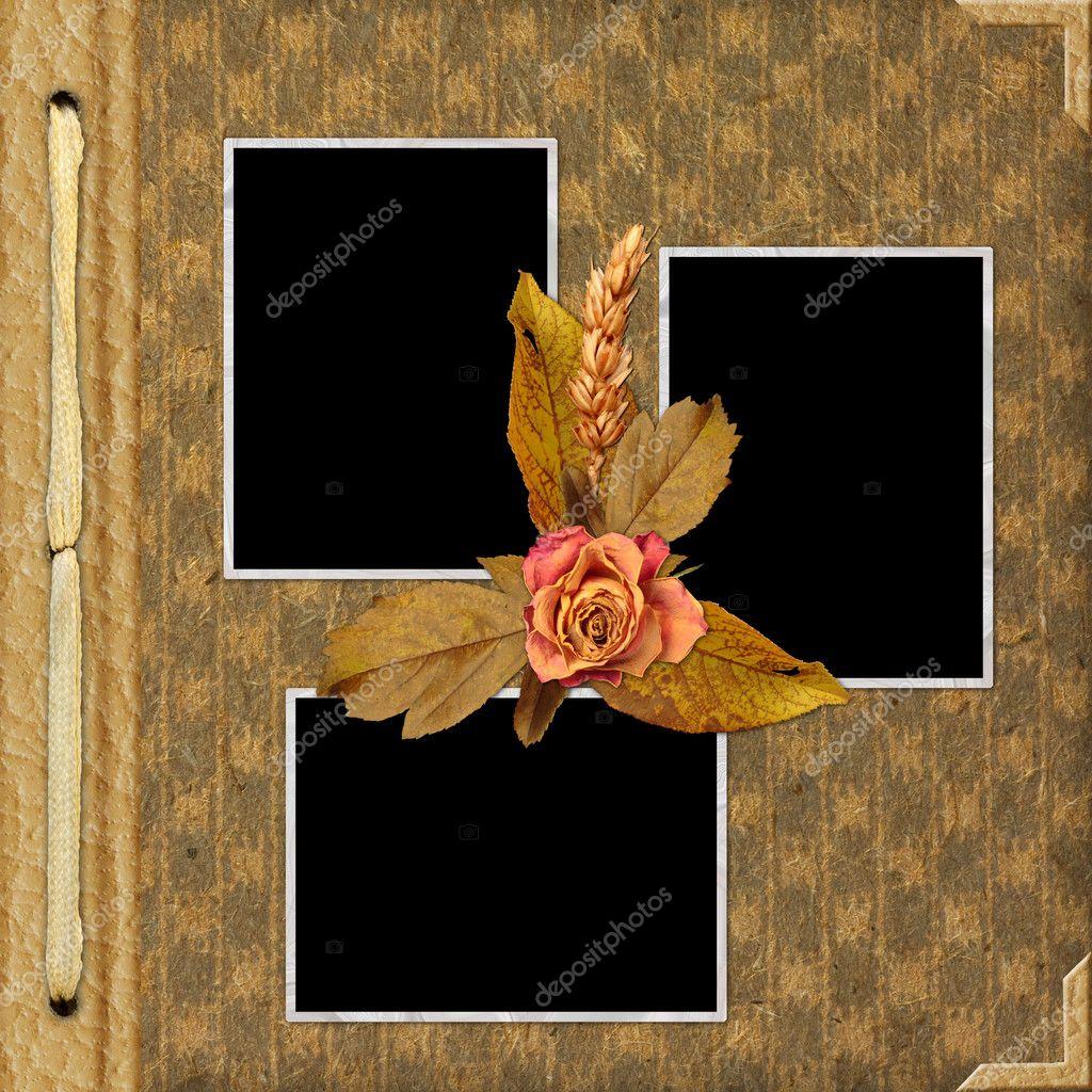 album-cover mit rahmen und blumen — Stockfoto © welena #1188756