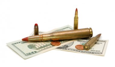 American money and cartridges