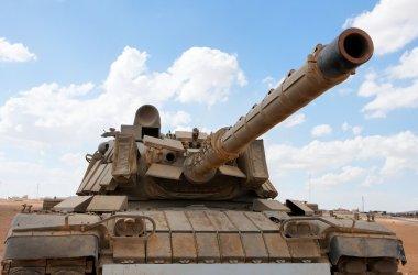 Old Israeli Magach tank in desert